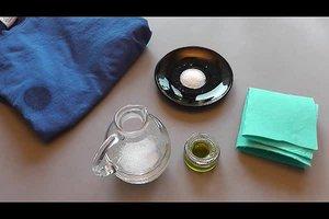 Verwijder olie vlekken van kleding