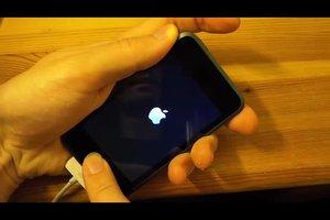 reset uitvoeren met de toetscombinatie: iPod touch