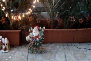 Decoratie voor buiten - dus het balkon in een winter droom