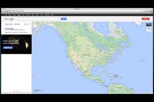 bepaal de rechte lijn op google maps dus slaagt 39 s. Black Bedroom Furniture Sets. Home Design Ideas