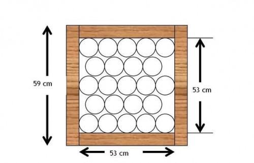 build fles rack zelf. Black Bedroom Furniture Sets. Home Design Ideas