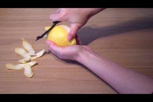 Het maken van citroenschil - hoe het werkt