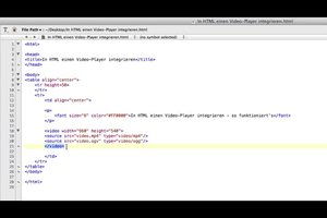 In HTML integreren een video-speler - hoe het werkt