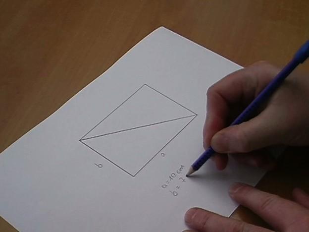 hoe bereken je de diagonaal van een rechthoek hoe het werkt. Black Bedroom Furniture Sets. Home Design Ideas