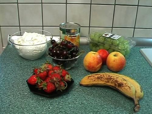 Fruitsalade met kwark - snel recept