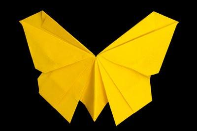 Servet vouwen - dus het is een vlinder