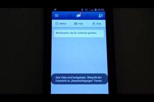 In Facebook Video uploaden - hoe het werkt met de telefoon