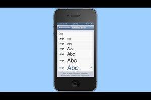 Kan de iPhone om het lettertype te wijzigen?