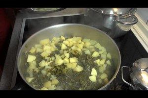 'S Recepten - dus gekookte boerenkool met worst