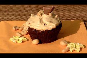 Het maken van Pindakaas Cupcakes veganistisch - een recept