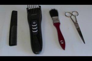 Het haar knippen met een machine - handmatig