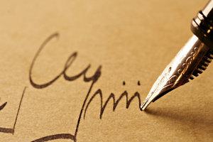 Boek handtekeningen - zodat u de juiste woorden te vinden