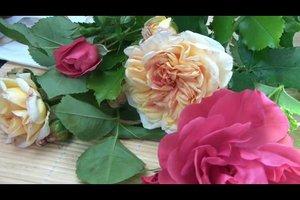 Rozen en lavendel - sleutels tot succes bloemstuk