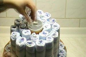 Bruidstaart Van Toiletpapier.Maak Luier Taart Zelf Bastelanleitung