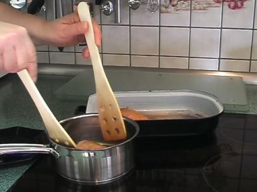 Geglazuurde eendenborst met honing - een recept