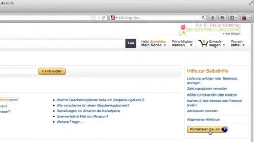 Clear Amazon rekening